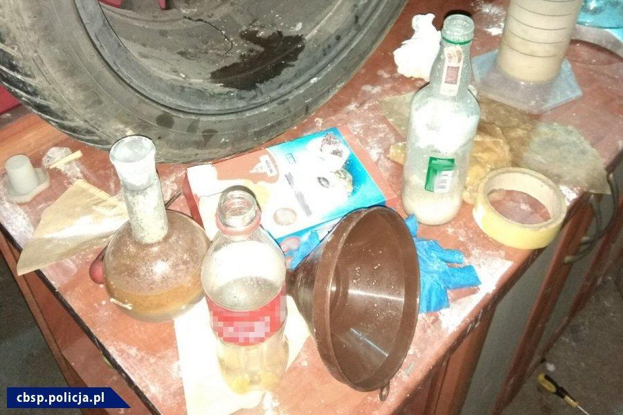Zlikwidowane laboratorium narkotykowe