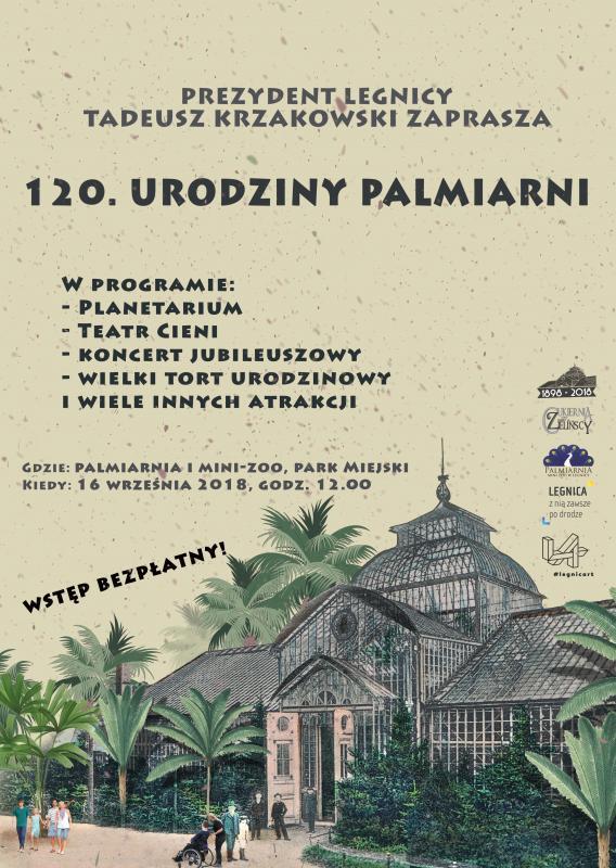 Nasza palmiarnia świętuje 120-lecie powstania