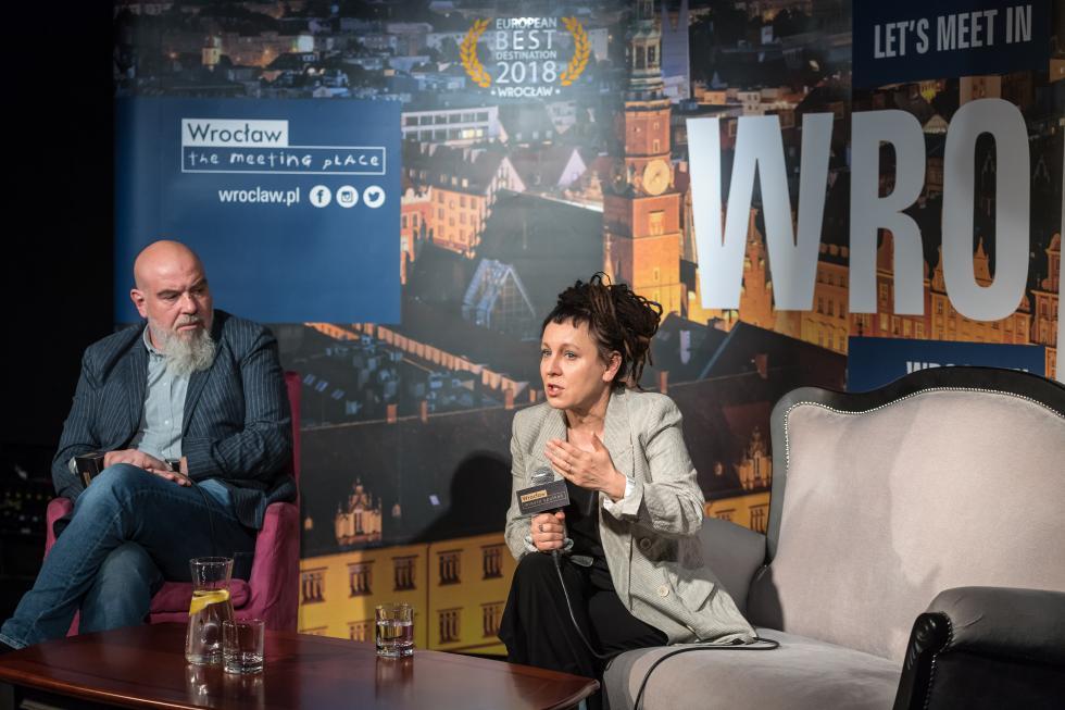 Olga Tokarczuk wróciła doWrocławia