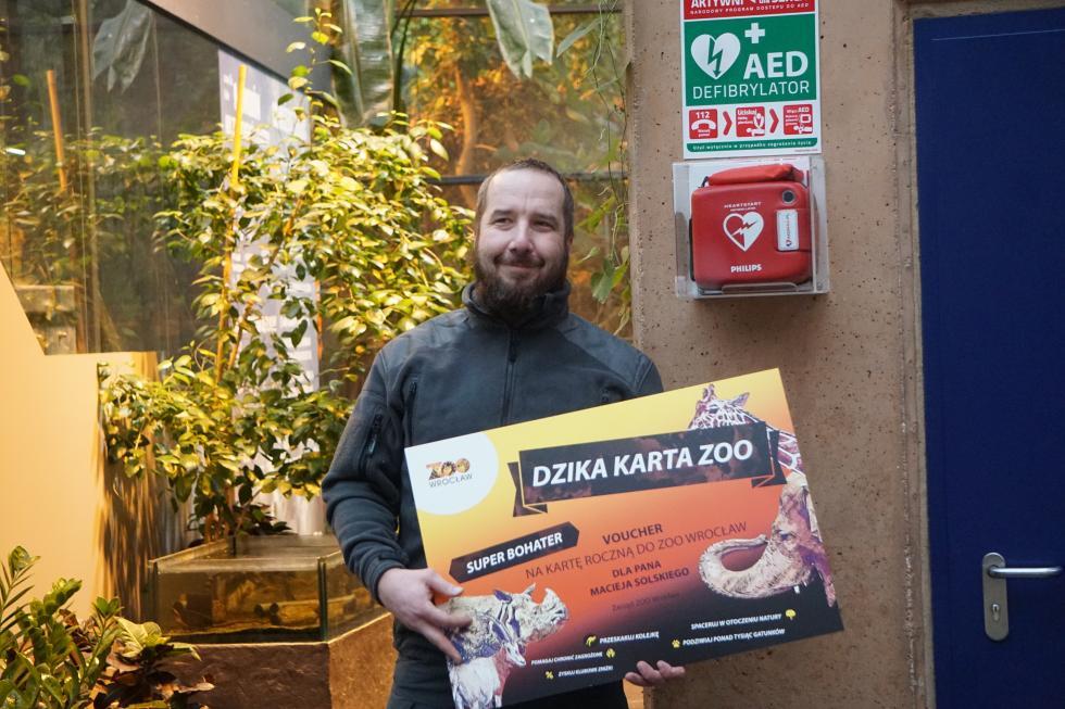 We wrocławskim zoo uratowano życie zwiedzającemu