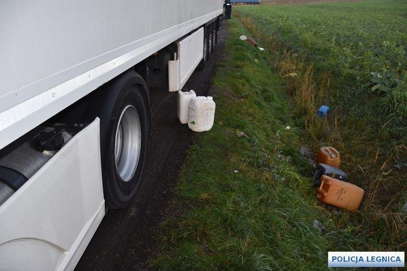 Kradli paliwo zsamochodów ciężarowych
