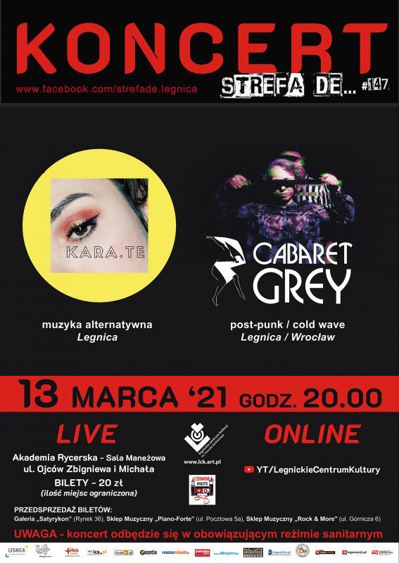 Strefa de powraca na żywo 13 marca. A  wniej post punk imuzyka alternatywna
